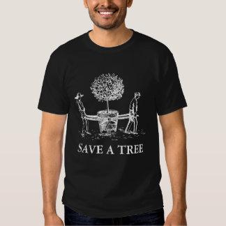 Save a tree Vintage white Illustration shirt