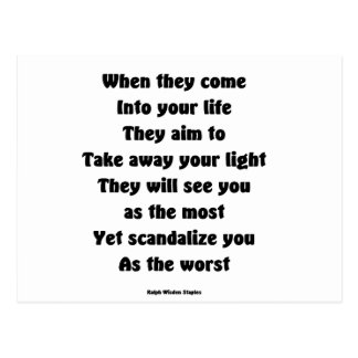 Scandalize you as the worst postcard