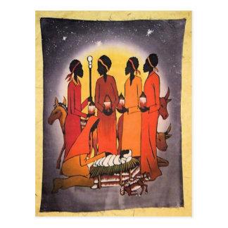 Scène africaine de nativité de Noël Cartes Postales