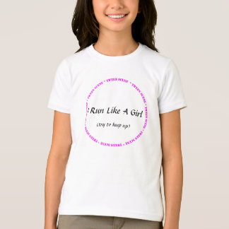 Scène de Tween - je cours comme une fille T Shirt