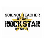 Science Teacher Rock Star by Night Postcard