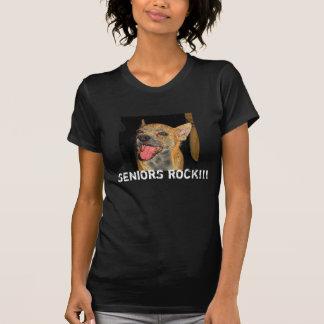 Seniors Rock!!! Distressed Ladies T-Shirt