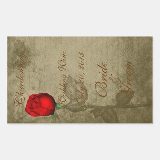 Sepia Spot Color Red Rosebud Wedding Wine2