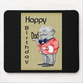 Serveur de papa de joyeux anniversaire tapis de souris