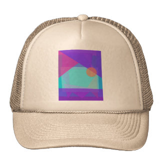 Setting Sun behind the Icy Mountaing Trucker Hat
