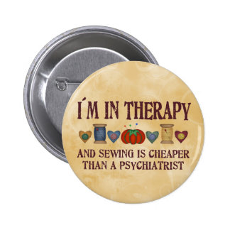 Sewing Therapy 2 Inch Round Button