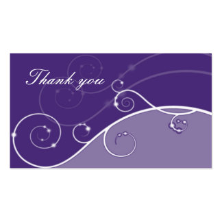 shades of violet and swirls thank you business card