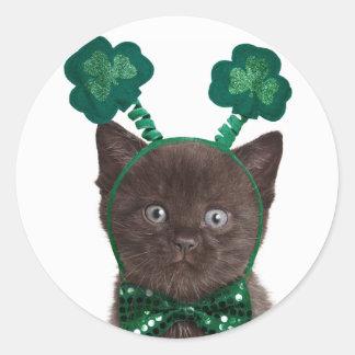 Shamrock Kitten Stickers