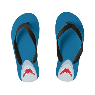 Shark Attack Kids Flip Flops