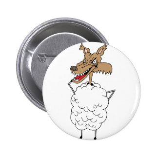 Sheep's clothing wolf 2 inch round button