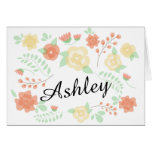 Sheer Summer Flowers | Will you be my bridesmaid? Note Card