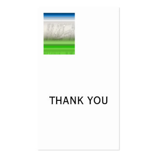 Silver, THANK YOU Business Card