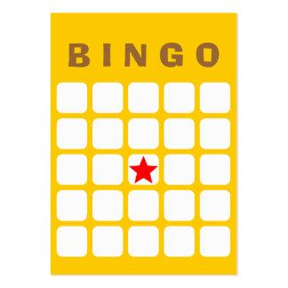 Simple Plain Yellow 5x5 DIY Bingo Card Large Business Card