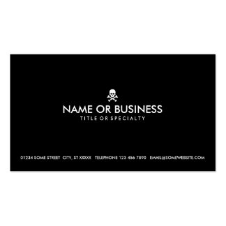 simple skull and crossbones business card