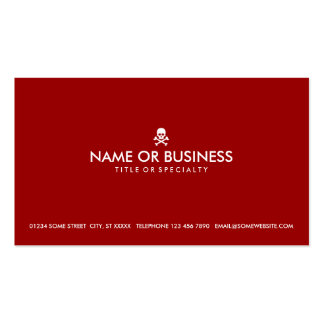 simple skull and crossbones (color customizable) business card