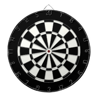 Simple Standard Black And White Dart Boards