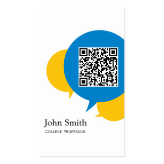 Simple Talk Bubbles Professor Business Card