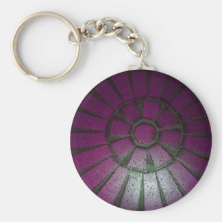 simply paving basic round button keychain