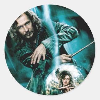 Sirius Black and Bellatrix Lestrange Round Sticker