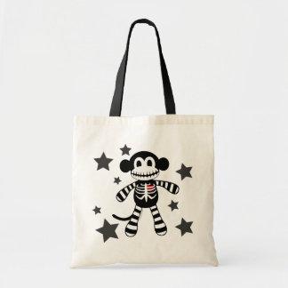 Skeleton Monkey Tote Budget Tote Bag