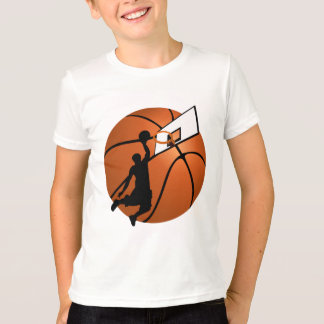 Slam Dunk Basketball Player w/Hoop on Ball Shirt