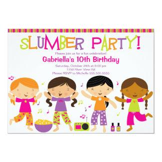 Slumber Party Fun Birthday Invitation