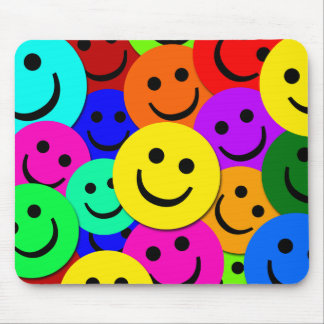 SMILEYS COLLAGE MOUSE PAD