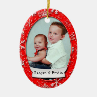 Snowflake Custom Dated Photo Ornament (2 Sided)