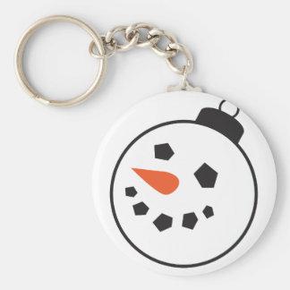 Snowman Globe Basic Round Button Keychain