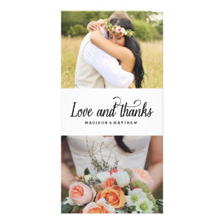 So Much Love | Wedding Thank You Photo Card