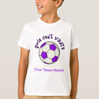 Soccer Ball in Purple Tees