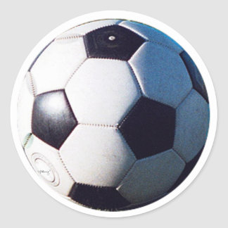 Soccer Ball jGibney The MUSEUM Zazzle Gifts Round Sticker