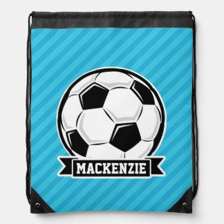 Soccer Ball; Sky Blue Stripes Backpack