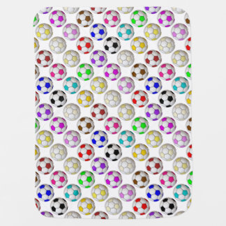 Soccer Balls Pattern Receiving Blanket