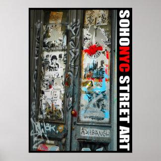 SoHo NYC Street Art Poster