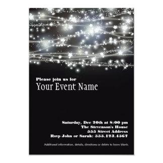Sparkling Star Holiday Celebration Invitation Card