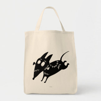 Sparky Running Silhouette Grocery Tote Bag