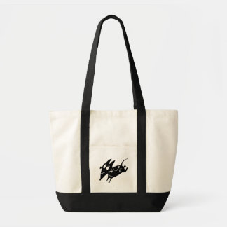 Sparky Running Silhouette Impulse Tote Bag