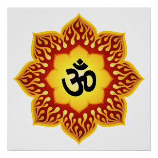 Spiritual Om Design. Poster