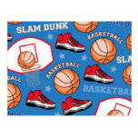 SPORTS Basketball Fun Athlete Colourful Pattern Postcard