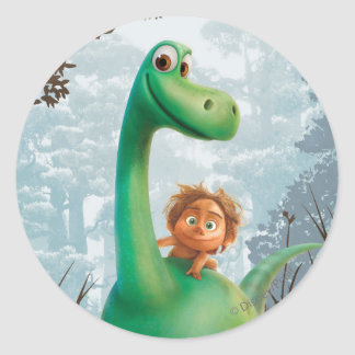 Spot And Arlo Walking Through Forest Round Sticker