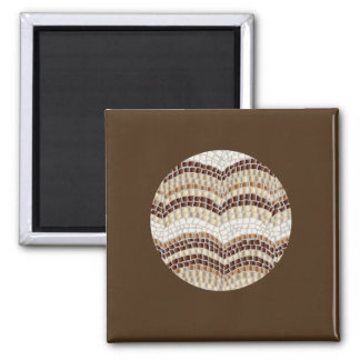 Square magnet with beige mosaic