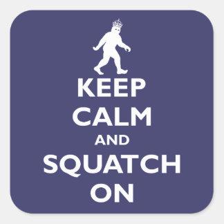 Squatch On Square Sticker