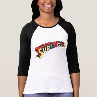SSupergirl Colorful  Logo T-shirt