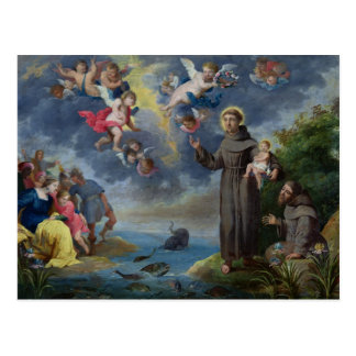 St. Anthony of Padua Preaching to the Fish Postcard