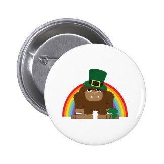 St. Patrick's Day Bigfoot 2 Inch Round Button
