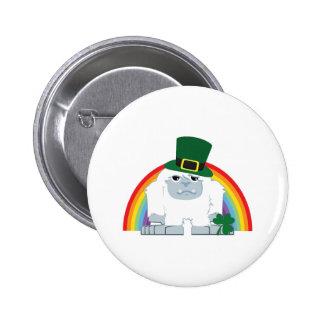 St. Patrick's day Yeti 2 Inch Round Button