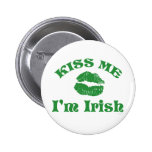 St. Patty's Day Kiss Me I'm Irish 2 Inch Round Button