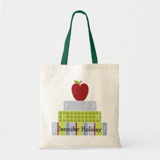 Stacked Books Teacher's Tote Bag