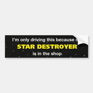 Star Destroyer Bumper Sticker